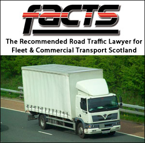 Solicitor for Commercial Drivers and Fleet Companies. Recommended by FACTS magazine.
