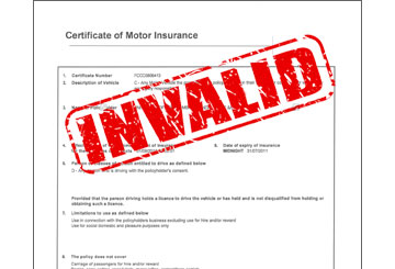 no insurance invalid inurance no commercial inurance. lawyer / Solicitor