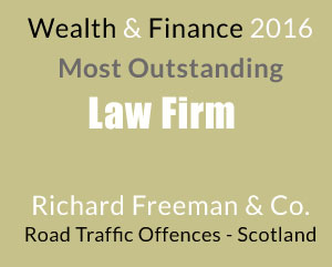Most Outstanding Law Firm for Road Traffic Offences - Scotland